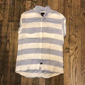Rails blue & white sleeveless blouse size small